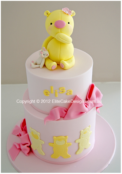 ba 117 yellow teddy baby shower cake baby shower cake