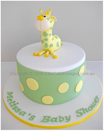 Baby Giraffe Baby Shower Cake Sydney