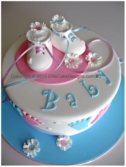 Cake Designs For Baby : Baby Shower Cakes: Baby Shower Cake Ideas Booties