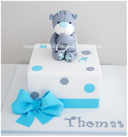 Tatty Teddy Christening Cake For Boys And Girls By