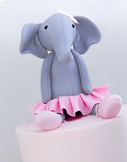 Dancing Darcey Elephant 1st Birthday cake idea