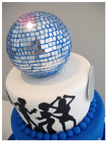 70s Disco Birthday Cake