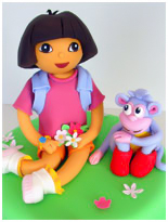Dora the esplorer novelty cake