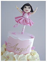 Dora Ballerina Cake for a girl
