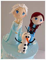 Frozen theme birthday cake for girls