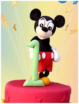 Mickey Mouse Childrens Birthday Cake