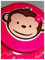 Monkey Face Kids Birthday Cake