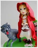 Red Riding Hood Birthday Cake for girls