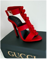 Red Gucci Stiletto Birthday Cake