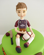 Broncos AFL player birthday cake