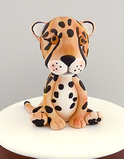 Cheetah kids birthday cakes