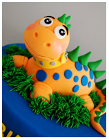 Kids dinosaur birthday cake