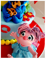 Sesame St kids Birthday Cake