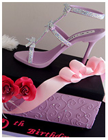 Glitz and Glamour Shoe Birthday Cake