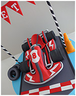 Go Kart birthday cake for a boy