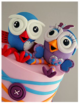 Giggle and Hoot Birthday cake for kids