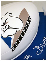 nrl bulldogs football cake