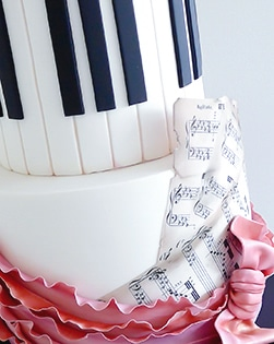 Piano Music Theme birthday cake