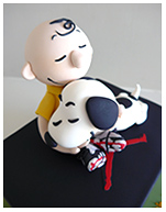 Charlie Brown and Snoopy from The Peanuts Movie kids birthday cake