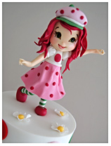 Strawberry Shortcake girls birthday cake