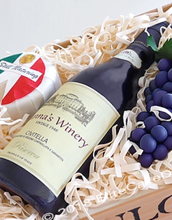 Wine bottle in a box cake