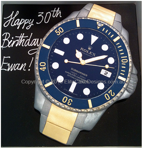 Marvelous Rolex Watch Birthday Cake Birthday Cakes Sydney Cakes For 30Th Personalised Birthday Cards Arneslily Jamesorg