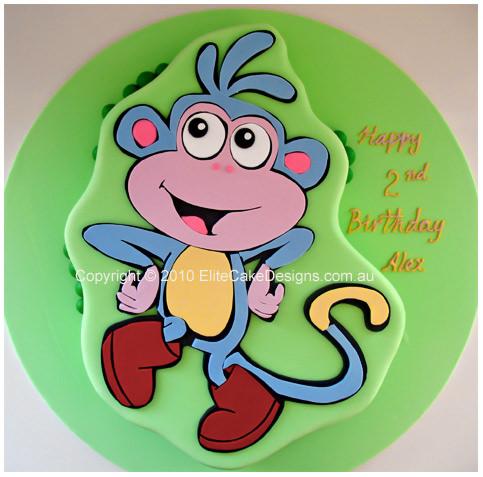 Boots from Dora Explorer cake Childrens Birthday Cake 1st