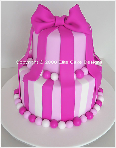 Fabulous Hot Pink Bow Birthday Cake 21St Birthday Cakes Sydney 21St Funny Birthday Cards Online Overcheapnameinfo