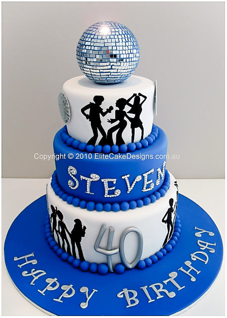 70s DISCO BIRTHDAY CAKE BY