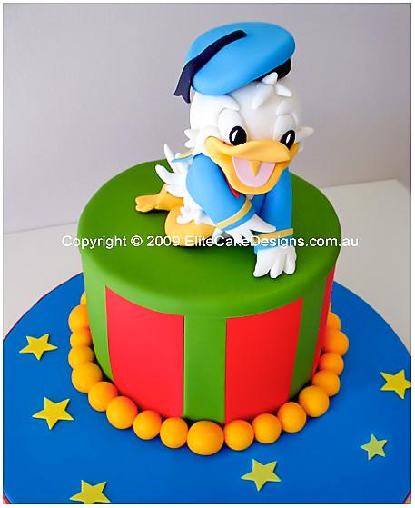 Marvelous Donald Duck Birthday Cake Walt Disney Children Birthday Cakes Personalised Birthday Cards Veneteletsinfo