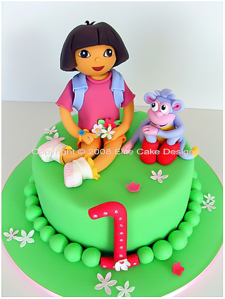 Dora The Explorer girl's birthday cake