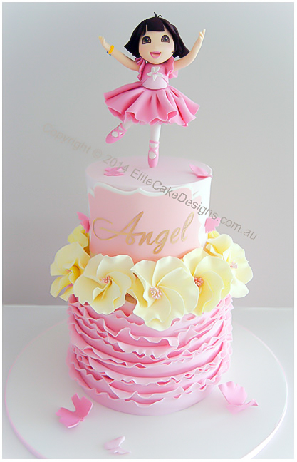 Sensational Dora Ballerina Girls Birthday Cake By Elitecakedesigns Sydney Personalised Birthday Cards Paralily Jamesorg
