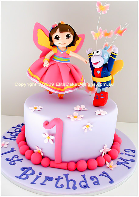 Wondrous Dora The Explorer Birthday Cake Dora The Fairy Cake Birthday Funny Birthday Cards Online Alyptdamsfinfo