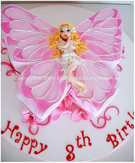 Fairy Birthday Cake Butterfly Children
