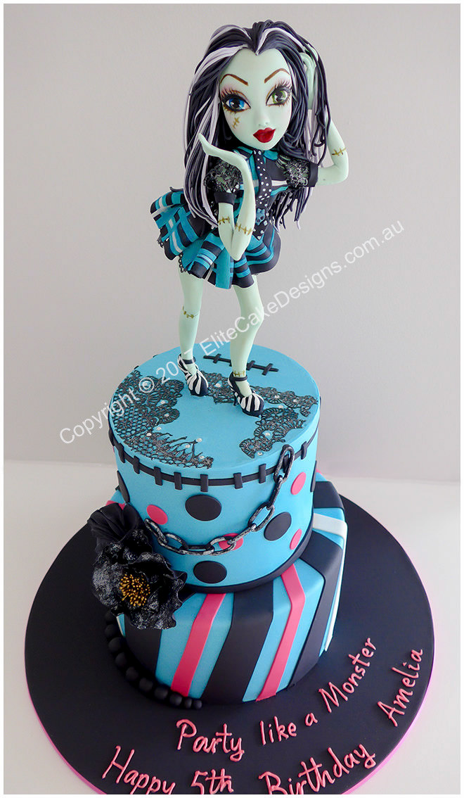 Monster High girls birthday cake idea