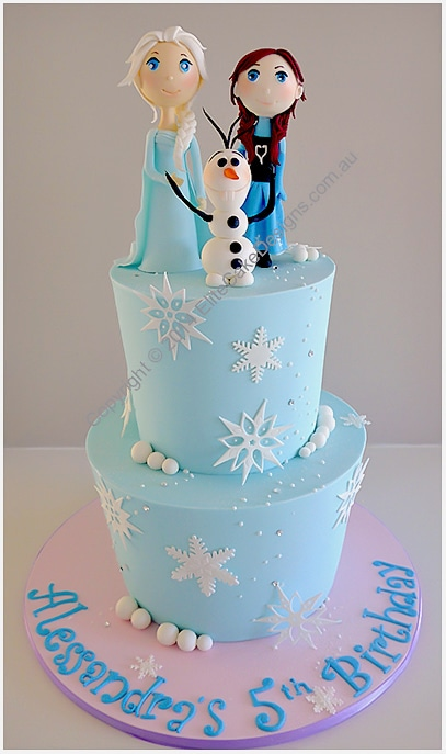 Frozen Girls Birthday Cake by EliteCakeDesigns Sydney