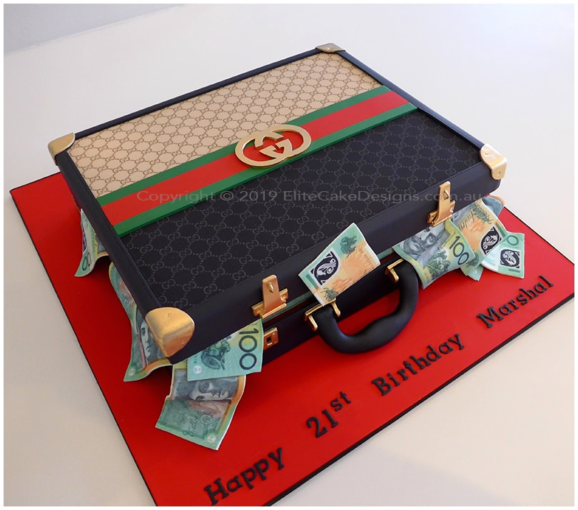 Gucci Mens Briefcase novelty cake in Sydney