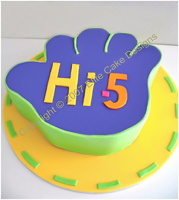 Pleasant Hi 5 Kids Birthday Cake By Elitecakedesigns Sydney Funny Birthday Cards Online Elaedamsfinfo