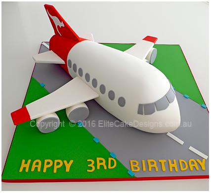 Qantas Plane Kids Birthday Cake Aeroplane Cakes by