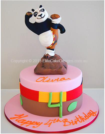 Admirable Kung Fu Panda Birthday Cake Birthday Cakes For Kids In Sydney Funny Birthday Cards Online Elaedamsfinfo