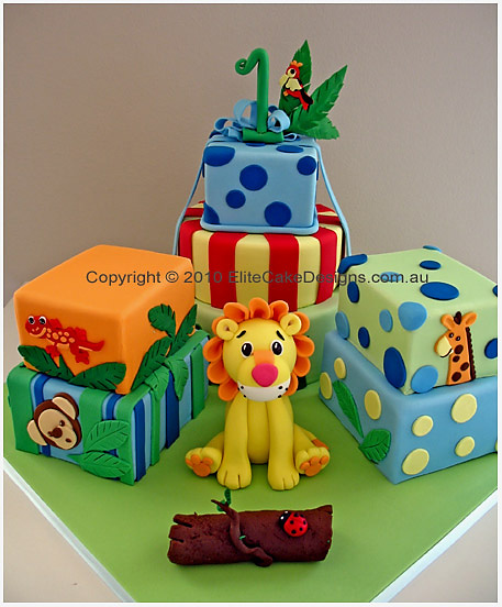Lion Safari Birthday cake