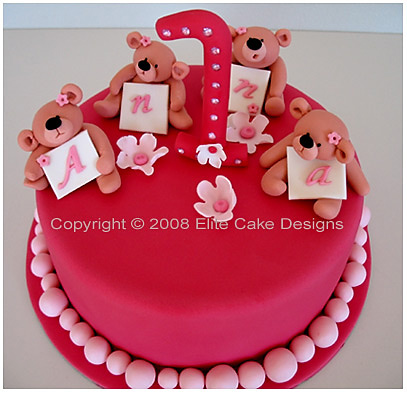 Little Teddies Birthday Cake Children Birthday Cakes 1st Birthday