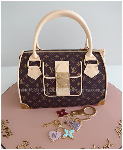 160a9b2a5b46 Louis Vuitton ladies handbag Birthday Cake in brown