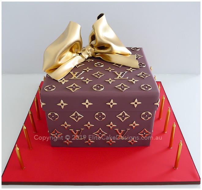 Strange Louis Vuitton Gift Box Birthday Cake 30Th 40Th 50Th Birthday Funny Birthday Cards Online Alyptdamsfinfo