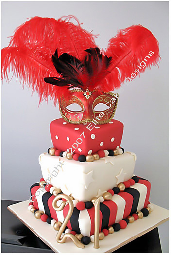 Awe Inspiring Masquerade Madhatter Cakes Fancy Dress Party Cakes By Funny Birthday Cards Online Alyptdamsfinfo