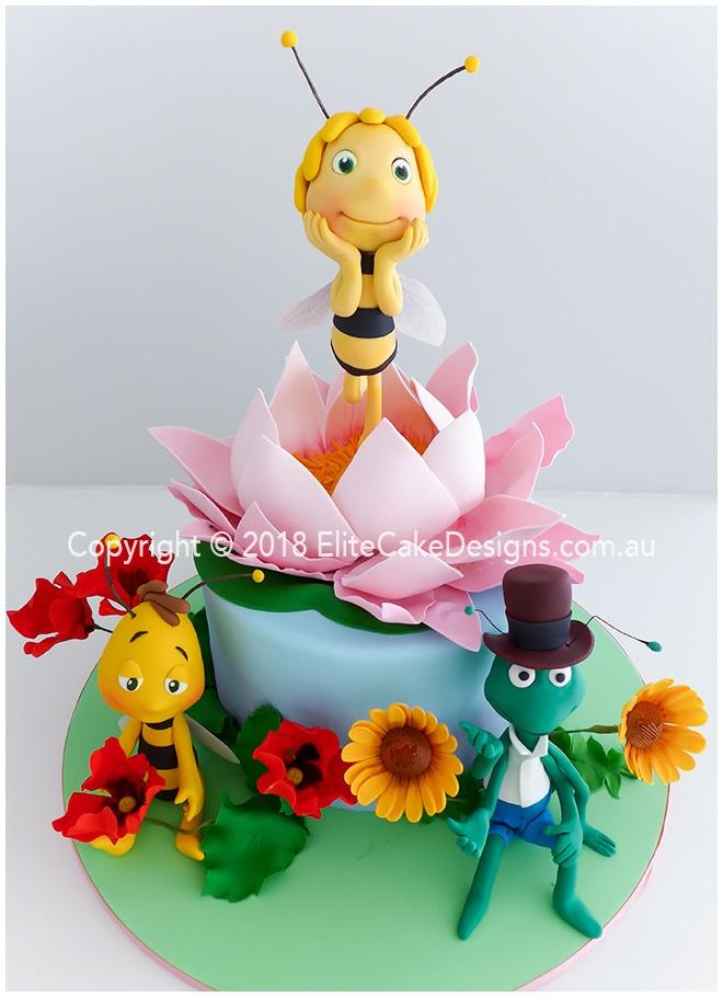 Miraculous Maya The Bee Girls Birthday Cake By Elitecakedesigns In Sydney Funny Birthday Cards Online Inifofree Goldxyz