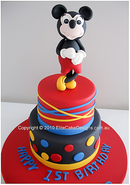 Mickey Mouse Birthday Cake For Kids By Elitecakedesigns Sydney