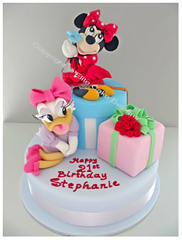 Superb Mickey Mouse Birthday Cake Walt Disney Minnie Daisy Donald Personalised Birthday Cards Vishlily Jamesorg