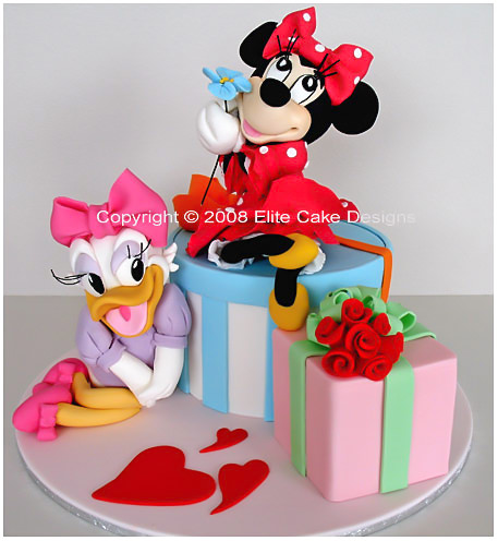 Mickey Mouse Birthday Cake, Walt Disney, Minnie, Daisy, Donald,