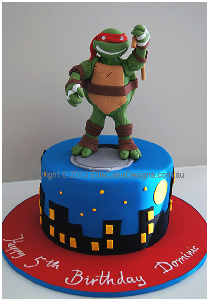 Surprising Awesome Ninja Turtles Birthday Cake By Elitecakedesigns Sydney Funny Birthday Cards Online Fluifree Goldxyz